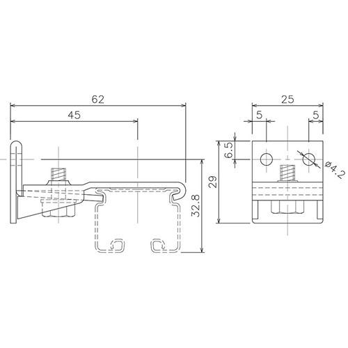 岡田 D30 Sブラケット ホワイト 製品図面・寸法図