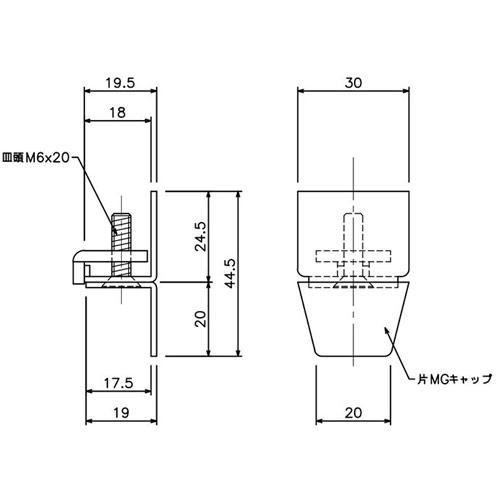 岡田 D30片マグネットランナー(片開)ワンタッチランナータイプ-1