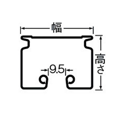 岡田 D40カーブレール 800×800×500R スチール製品図面・寸法図