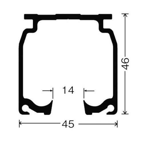 岡田 SGカーブレール 800×800×530R製品図面・寸法図