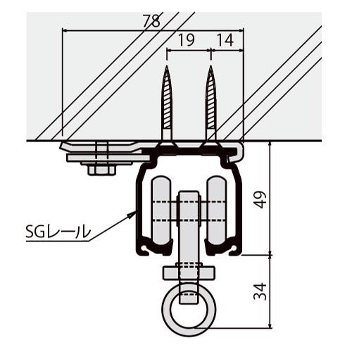 岡田 SGステン天井Sブラケット-1