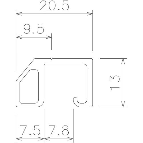岡田 ネットBOXバー 2.5m