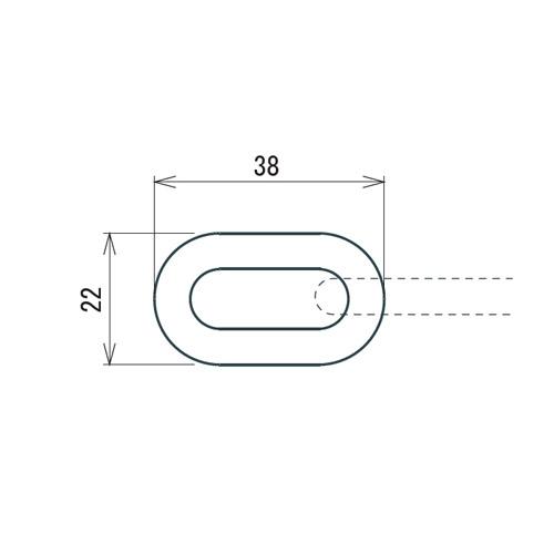 日中 プラスチック チェーン ホワイト製品図面・寸法図