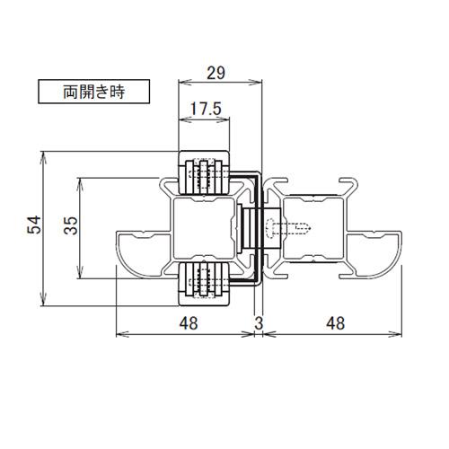 日中 MGタイプ スライドロック金具製品図面・寸法図