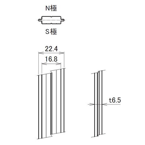 日中 MBタイプ マグネットバー製品図面・寸法図