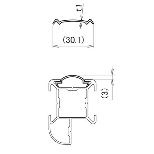 日中 MGタイプ サイドクッション製品図面・寸法図