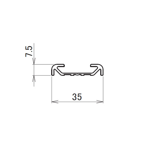 日中 直付アルミ枠 3.0m製品図面・寸法図