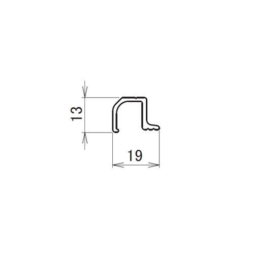 日中 ネット固定バー 4.0m製品図面・寸法図