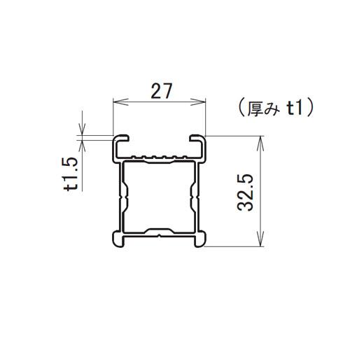 日中 サイドポール ライト 2.5m製品図面・寸法図