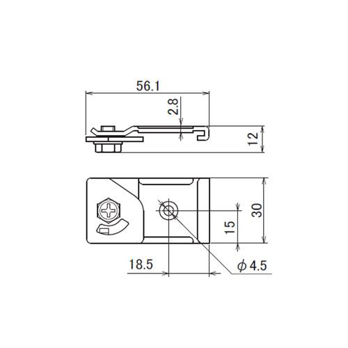日中 レクト30 天井ブラケット製品図面・寸法図
