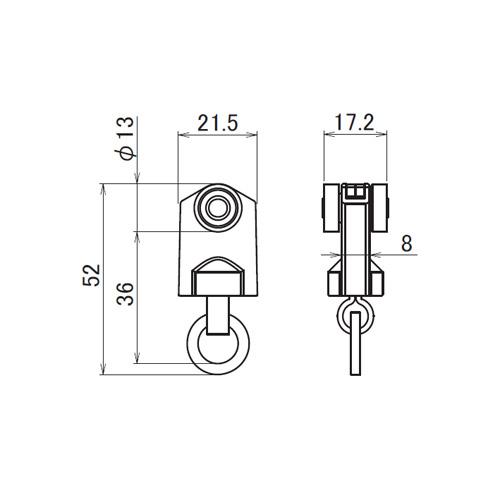 日中 レクト30用重量級 ステンレス Bランナー製品図面・寸法図