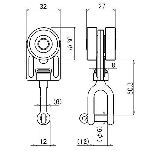 日中 アルトラック用 Bスナップランナー製品図面・寸法図