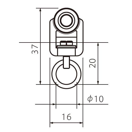 フェデポリマーブル 30用Qランナー 製品図面・寸法図-1