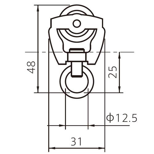 フェデポリマーブル 40用ステージランナー(S) 製品図面・寸法図-1