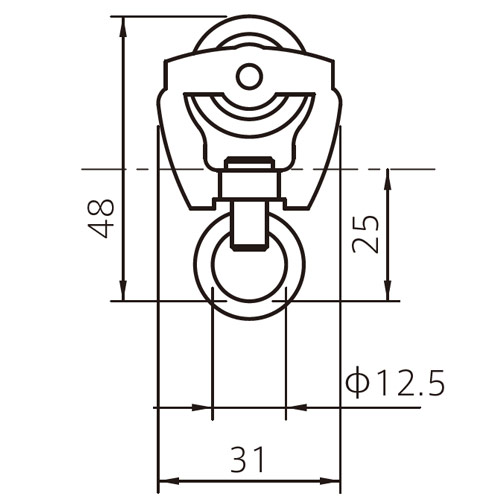 フェデポリマーブル 40用鉄ランナー 製品図面・寸法図-1