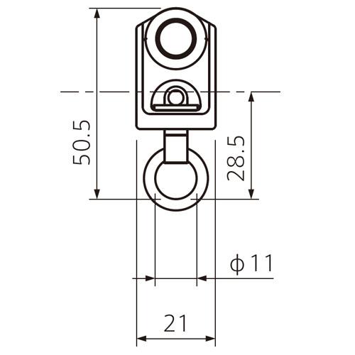 フェデポリマーブル 40用ステンレスAランナー 製品図面・寸法図-1