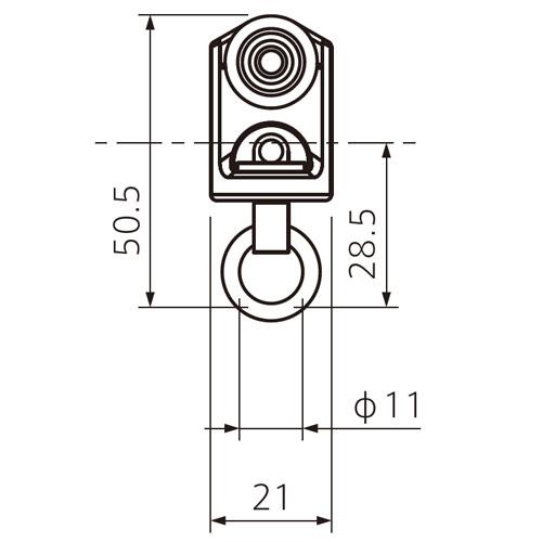 フェデポリマーブル 40用ステンレスBランナー 製品図面・寸法図-1
