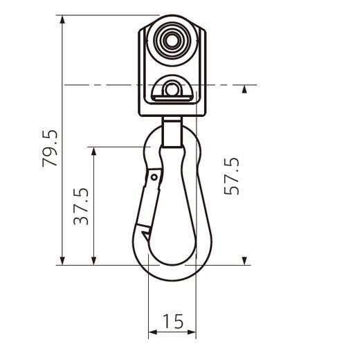 フェデポリマーブル 40用スナップステンBランナー 製品図面・寸法図-1