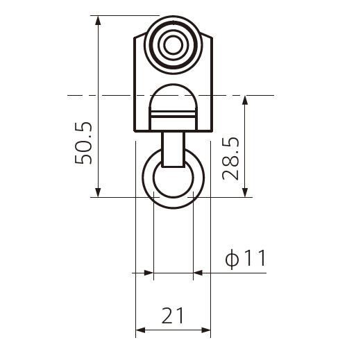 フェデポリマーブル ST-40専用重量級ランナー 製品図面・寸法図-1