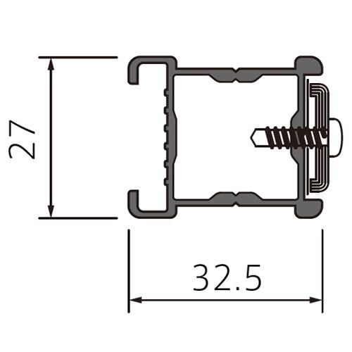 フェデポリマーブル サイドフレーム ライト3.5m(ジョイント可能タイプ) 製品図面・寸法図-1