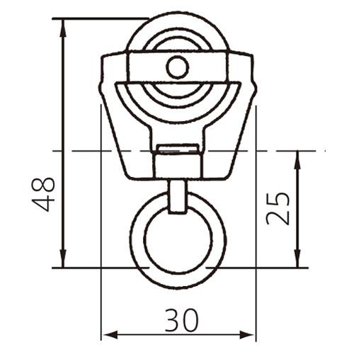 フェデポリマーブル 40用SUSランナー 製品図面・寸法図-1