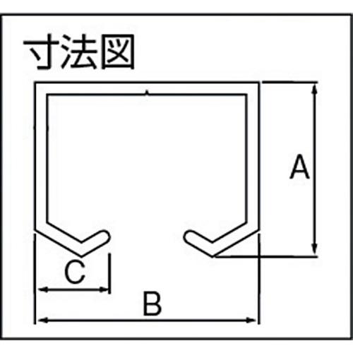 ダイケン アルミ製 ドアハンガーSD10A レール 1820 シルバー製品図面・寸法図
