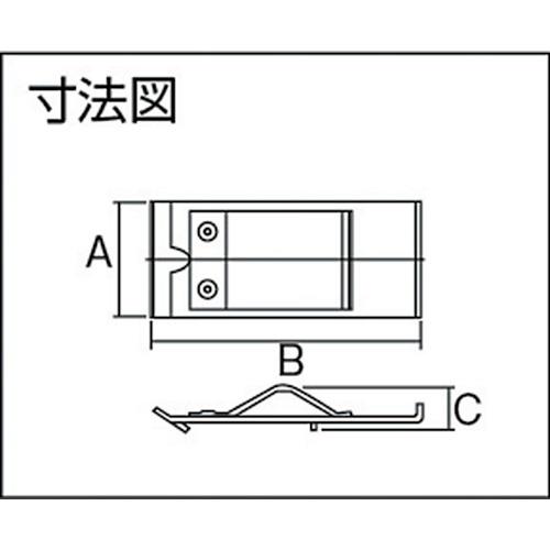 ダイケン 2号 ドアハンガー用 ジョイントクランプ製品図面・寸法図
