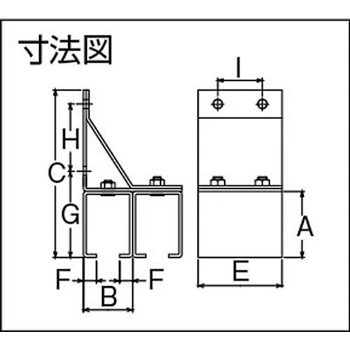 ダイケン 2号 ドアハンガー用 横継受二連製品図面・寸法図