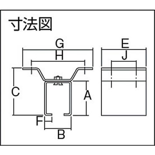 ダイケン 2号 ステンレス ドアハンガー用 天井継受一連製品図面・寸法図