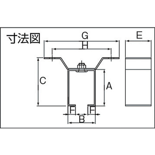 ダイケン 2号 ステンレス ドアハンガー用 天井受一連製品図面・寸法図