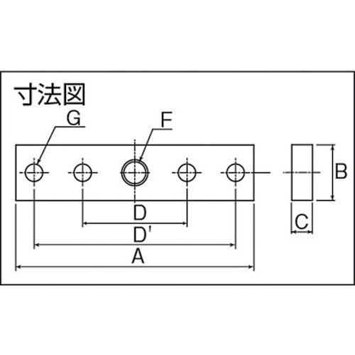 ダイケン 2号 ステンレス ドアハンガー用 プレート製品図面・寸法図