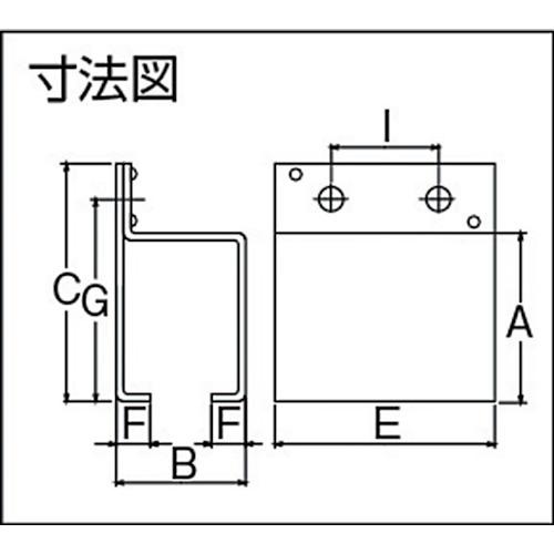 ダイケン 2号 ステンレス ドアハンガー用 横継受一連製品図面・寸法図