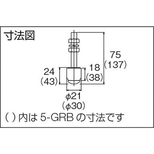 ダイケン 3号 ドアハンガー用 ボルトタイプ ガイドローラ製品図面・寸法図
