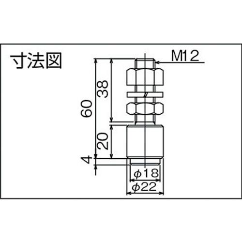 ダイケン 3号 ステンレス ドアハンガー用 M12ボルトタイプ ガイドローラ製品図面・寸法図