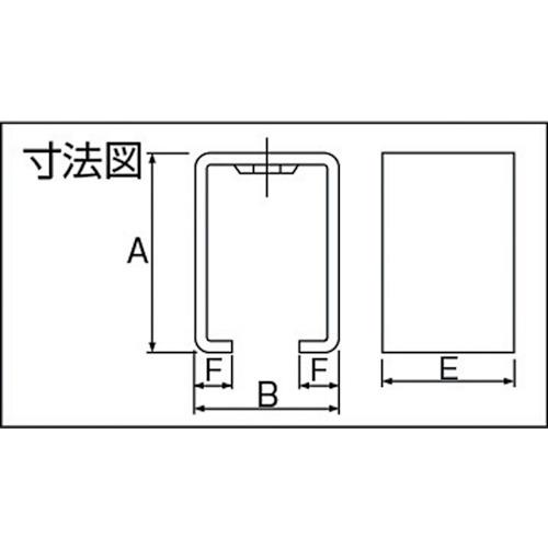ダイケン 4号 ステンレス ドアハンガー用 天井受下製品図面・寸法図