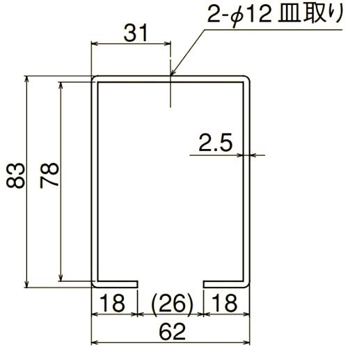 ダイケン 4号 ステンレス ドアハンガー用 天井継受下
