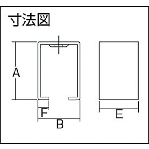 ダイケン 5号 ステンレス ドアハンガー用 天井受下製品図面・寸法図