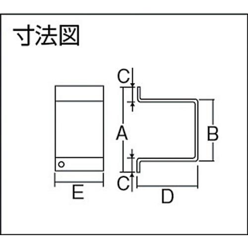 ダイケン 5号 ドアハンガー用 サイドカバー製品図面・寸法図