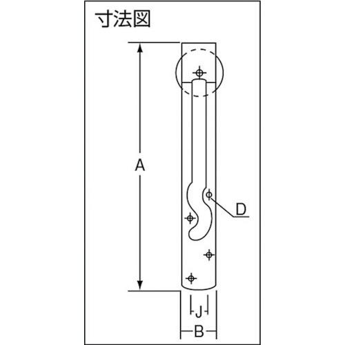 ダイケン 吊戸車 車径75 2個吊当り140kg用 製品図面・寸法図-1