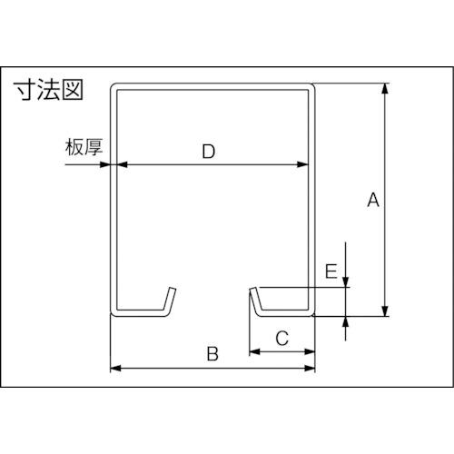 ダイケン ドアハンガー ニュートン10 ハンガーレール3000製品図面・寸法図