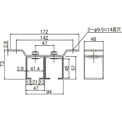 ダイケン ドアハンガー ニュートン10 天井受二連