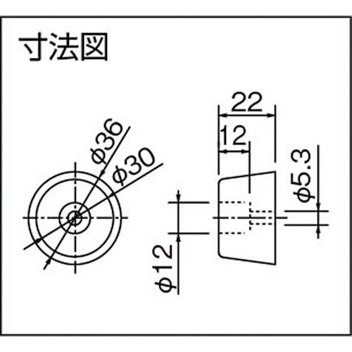 ダイケン ドアハンガー ニュートン20 戸当りゴム製品図面・寸法図