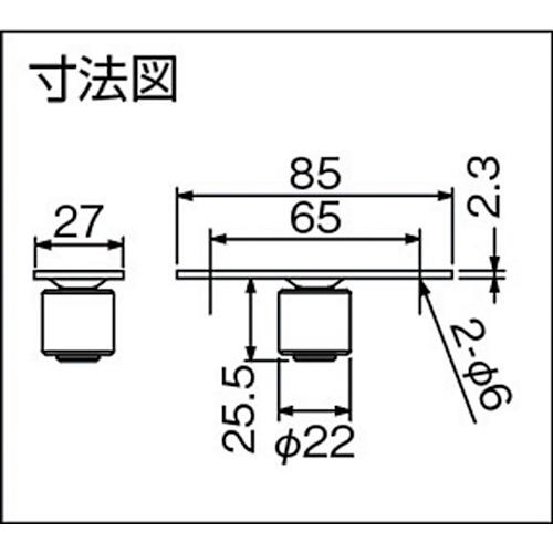 ダイケン ドアハンガー ニュートン20 ガイドローラ製品図面・寸法図