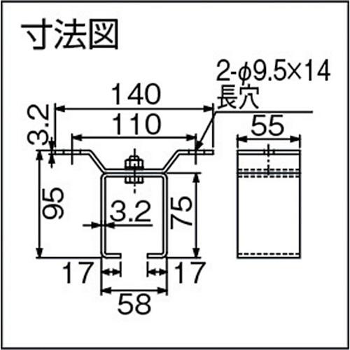 ダイケン ドアハンガー ニュートン20 天井受一連製品図面・寸法図