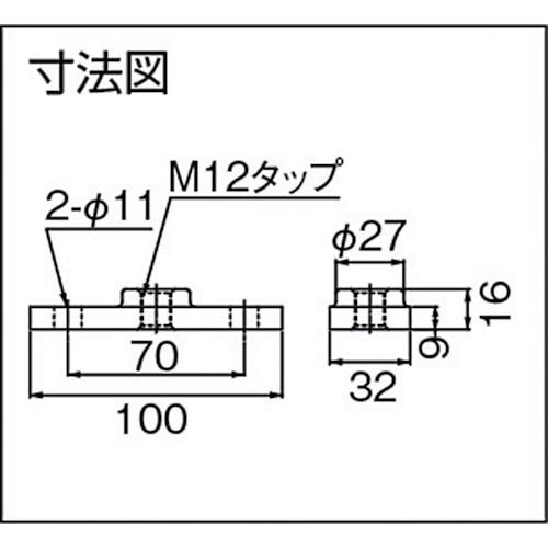ダイケン ドアハンガー ニュートン20 プレート製品図面・寸法図