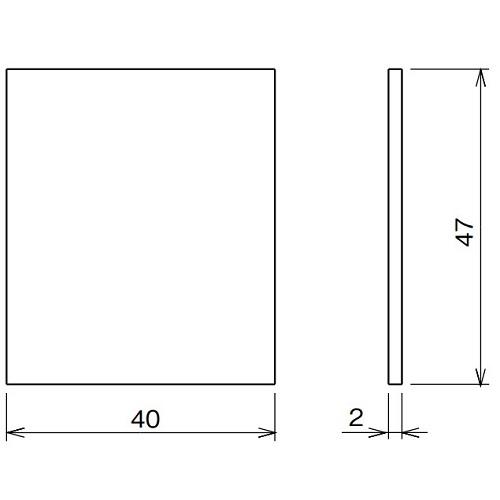 ダイケン アルミ ドアハンガー SD15 エンドシール製品図面・寸法図