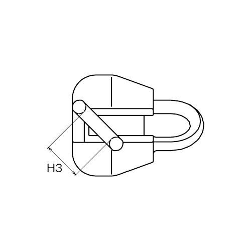 ASANO AKクランプ I型 15mm 製品図面・寸法図-2