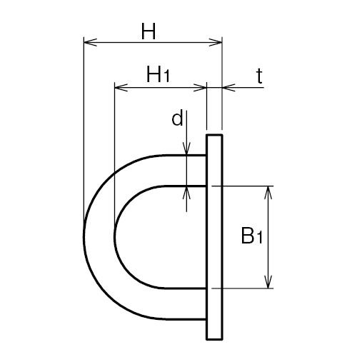 ASANO アイプレート 6mm 製品図面・寸法図