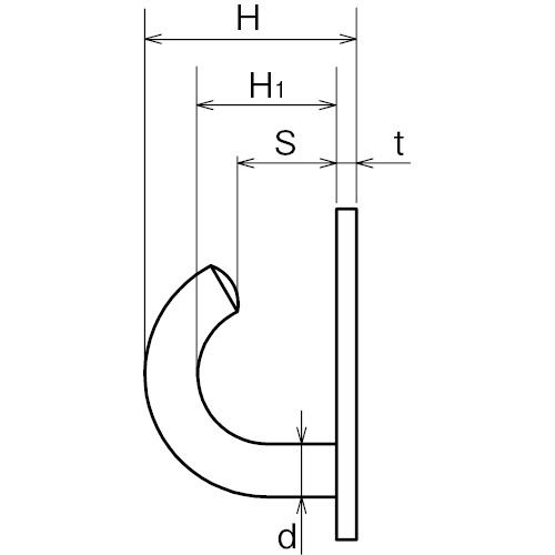 ASANO オープンラウンドアイ 6mm 製品図面・寸法図