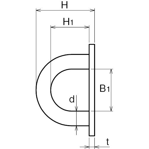 ASANO ラウンドアイ 5mm 製品図面・寸法図